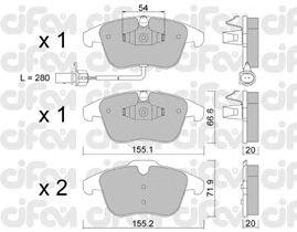 Тормозные колодки CIFAM 822-675-2