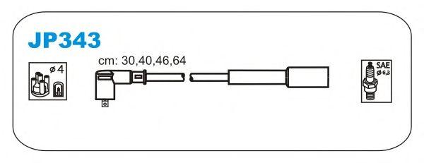 Комплект высоковольтных проводов JANMOR JP343