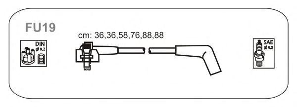 Комплект высоковольтных проводов JANMOR FU19