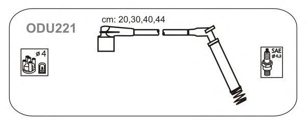 Комплект высоковольтных проводов JANMOR ODU221