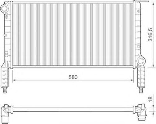 Радиатор, охлаждение двигателя MAGNETI MARELLI 350213180000