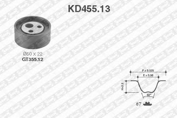 Комплект ремня ГРМ SNR KD455.13