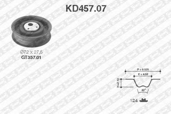 Комплект ремня ГРМ SNR KD457.07