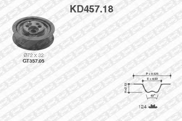 Комплект ремня ГРМ SNR KD457.18