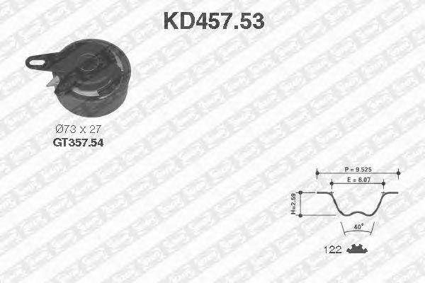Комплект ремня ГРМ SNR KD457.53