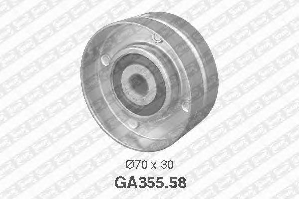 Направляющий / паразитный ролик  поликлинового ремня SNR GA355.58