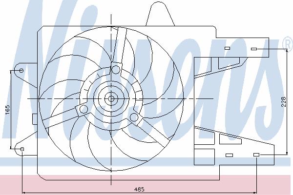 Вентилятор охлаждения NISSENS 85140