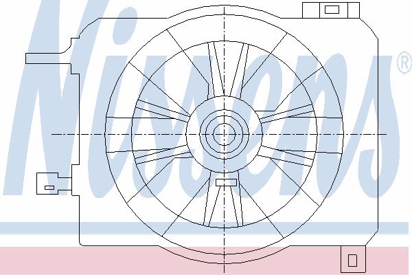 Вентилятор охлаждения NISSENS 85419