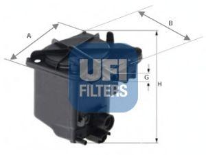 Топливный фильтр UFI 24.027.00