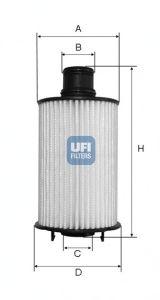 Масляный фильтр UFI 25.073.02