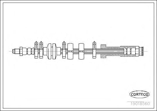 Тормозной шланг CORTECO 19018560