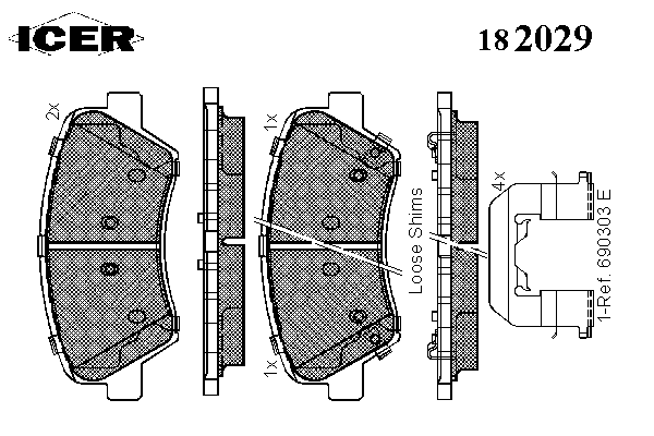 Тормозные колодки ICER 182029