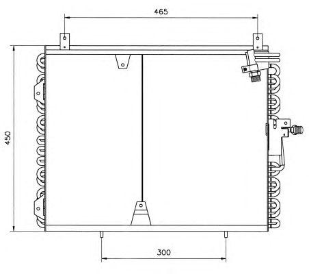 Радиатор кондиционера NRF 35129