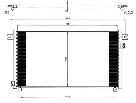 Радиатор кондиционера NRF 35574
