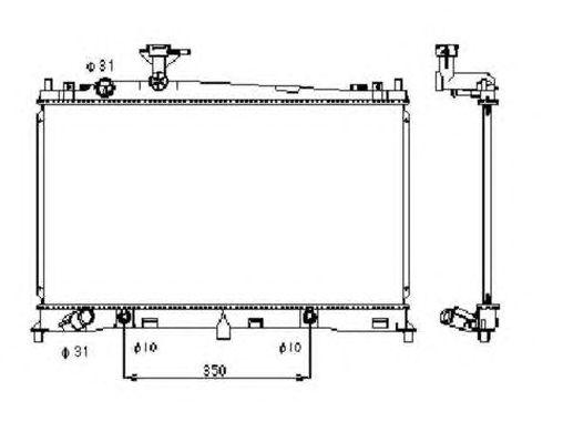 Радиатор, охлаждение двигателя NRF 53410