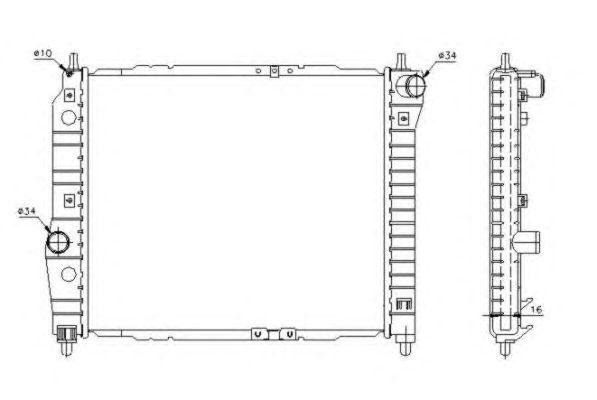 Радиатор, охлаждение двигателя NRF 53637