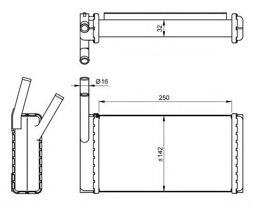 Радиатор отопителя NRF 54265