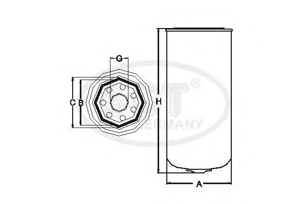 Топливный фильтр SCT Germany ST 6102