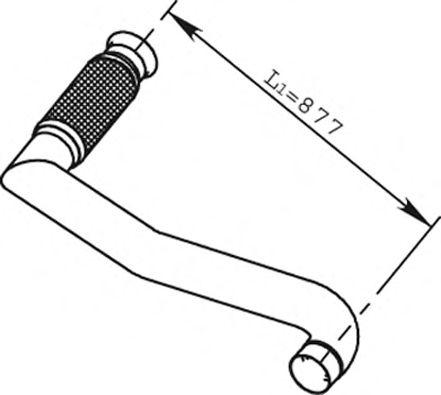 Труба выхлопного газа DINEX 66215
