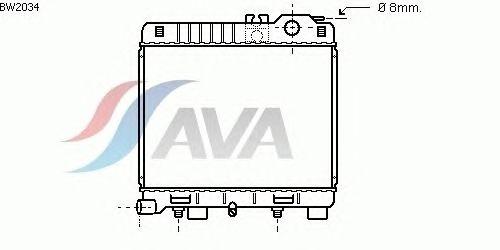 Радиатор, охлаждение двигателя AVA QUALITY COOLING BW2034