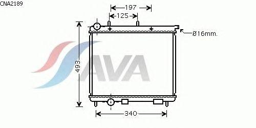 Радиатор, охлаждение двигателя AVA QUALITY COOLING CNA2189