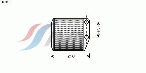 Радиатор отопителя AVA QUALITY COOLING FT6313