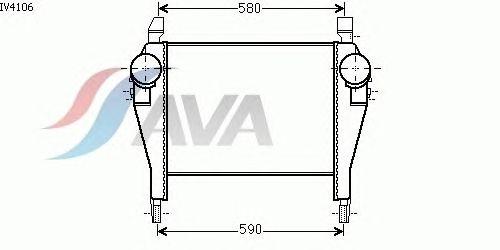 Интеркулер AVA QUALITY COOLING IV4106
