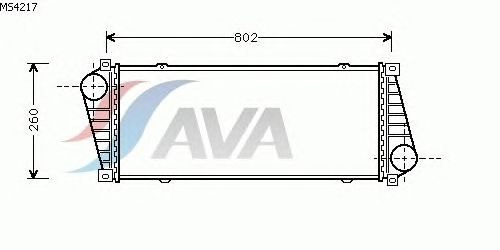Интеркулер AVA QUALITY COOLING MS4217