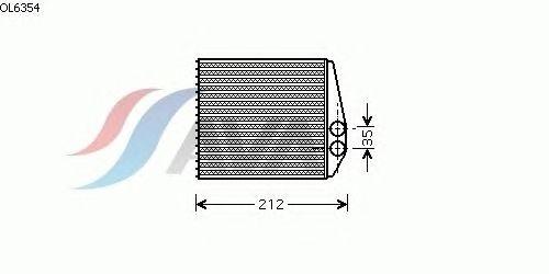 Радиатор отопителя AVA QUALITY COOLING OL6354