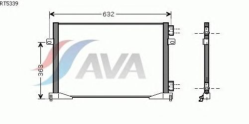 Радиатор кондиционера AVA QUALITY COOLING RT5339