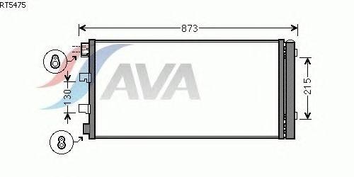 Радиатор кондиционера AVA QUALITY COOLING RT5475