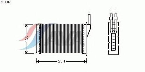 Радиатор отопителя AVA QUALITY COOLING RT6087