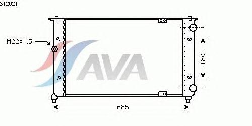 Радиатор, охлаждение двигателя AVA QUALITY COOLING ST2021