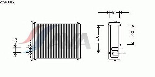 Радиатор отопителя AVA QUALITY COOLING VOA6085