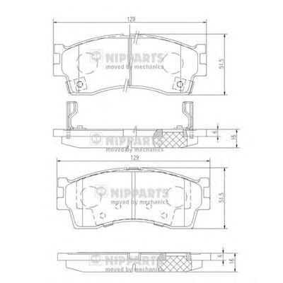 Тормозные колодки NIPPARTS J3600308