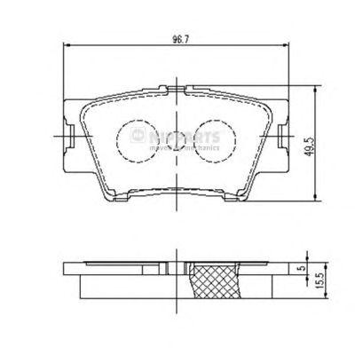 Тормозные колодки NIPPARTS J3612035