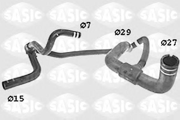 Шланг радиатора SASIC SWH6836