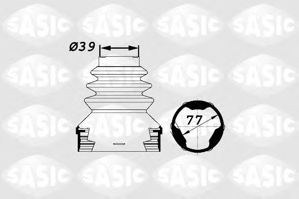 Комплект пыльника ШРУСа SASIC 1900002