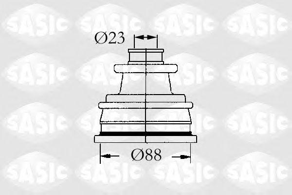 Комплект пыльника ШРУСа SASIC 4003429