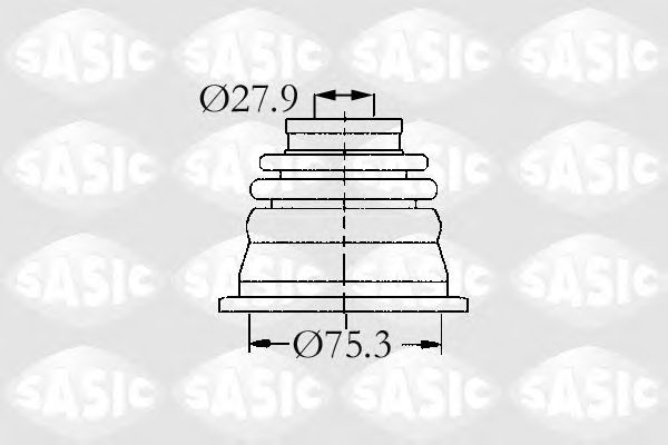 Комплект пыльника ШРУСа SASIC 4003470
