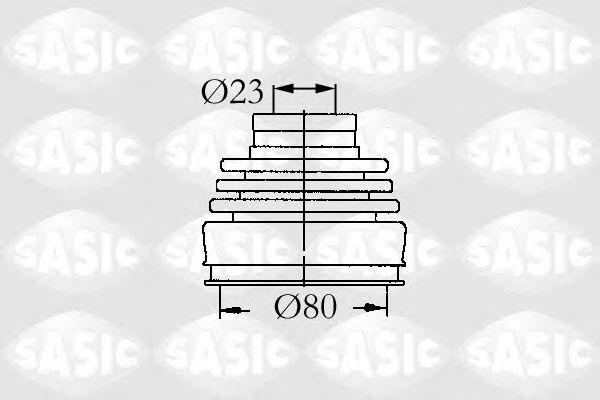 Комплект пыльника ШРУСа SASIC 9004630