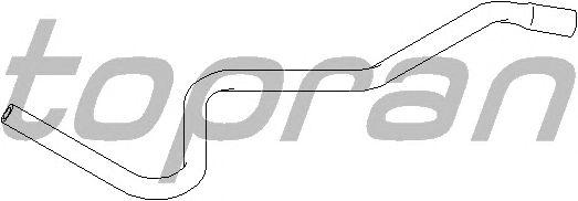 Шланг радиатора TOPRAN 301 427