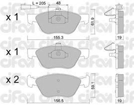Тормозные колодки CIFAM 822-083-2