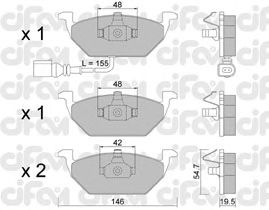 Тормозные колодки CIFAM 822-211-2