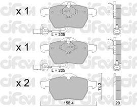 Тормозные колодки CIFAM 822-314-0