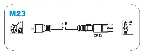 Комплект высоковольтных проводов JANMOR M23