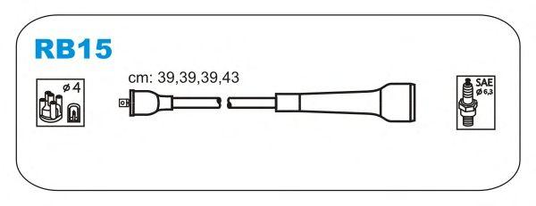 Комплект высоковольтных проводов JANMOR RB15