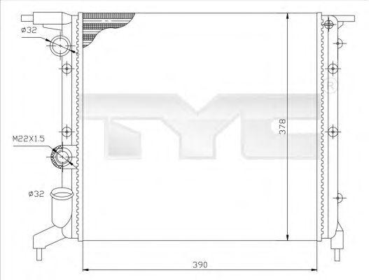 Радиатор, охлаждение двигателя TYC 728-0032