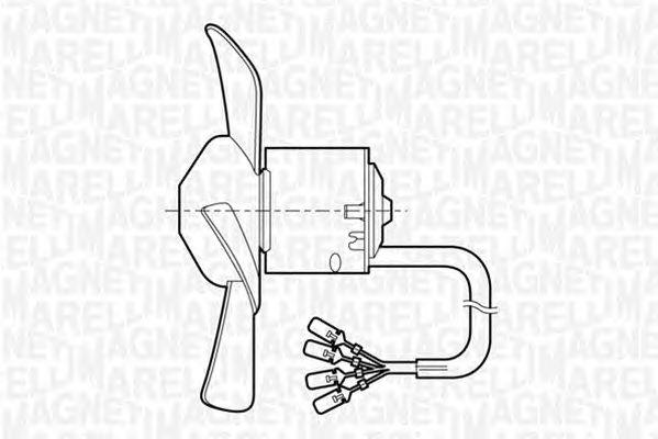 Вентилятор отопителя MAGNETI MARELLI 069401252010