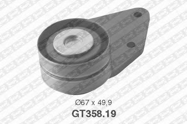 Натяжной ролик ремня ГРМ SNR GT358.19